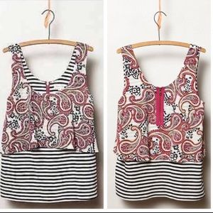 Meadow Rue Anthropologie Throughway Paisley Tank